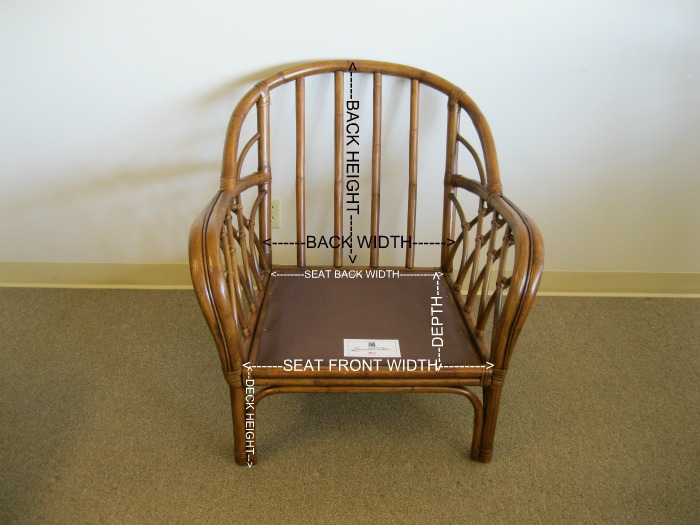 How To Measure A Wicker Or Rattan Chair