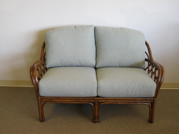 Custom Deep Seating Rattan or Wicker Loveseat Cushions