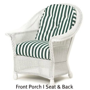 Front Porch I Chair Seat and Back Cushions
